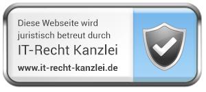 Logo fü juristische Betreuung durch die IT-Recht-Kanzlei