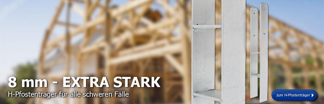 8 mm Extra Stark H-Pfostenträger für schwere Fälle