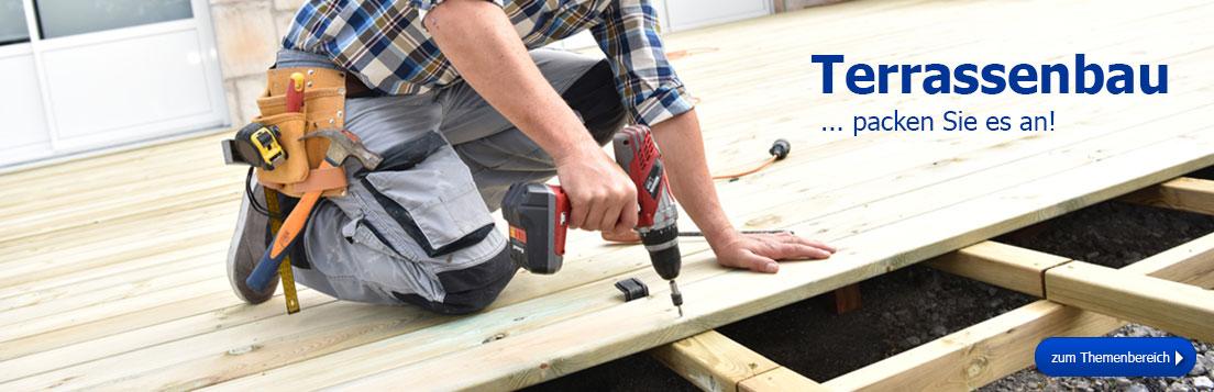 Themenbereich Terrassenbau - packen Sie es an!
