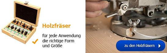 Holzfräser - für jede Anwendung die richtige Form und Größe!