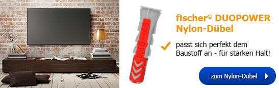 fischer© DUOPOWER Nylon-Dübel - für extra starken Halt!