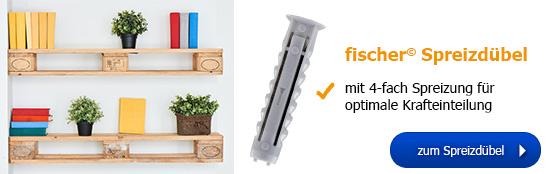 fischer© Spreizdübel - mit 4-fach Spreizung für optimale Krafteinteilung!