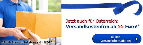 Jetzt auch für Österreich: versandkostenfrei ab 55 €!
